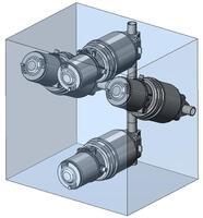 Herkömmlicher Ventilverteiler für die Säulenchromatographie